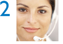 Step 2: Hear a Reassuring Voice (Woman Wearing Headset)